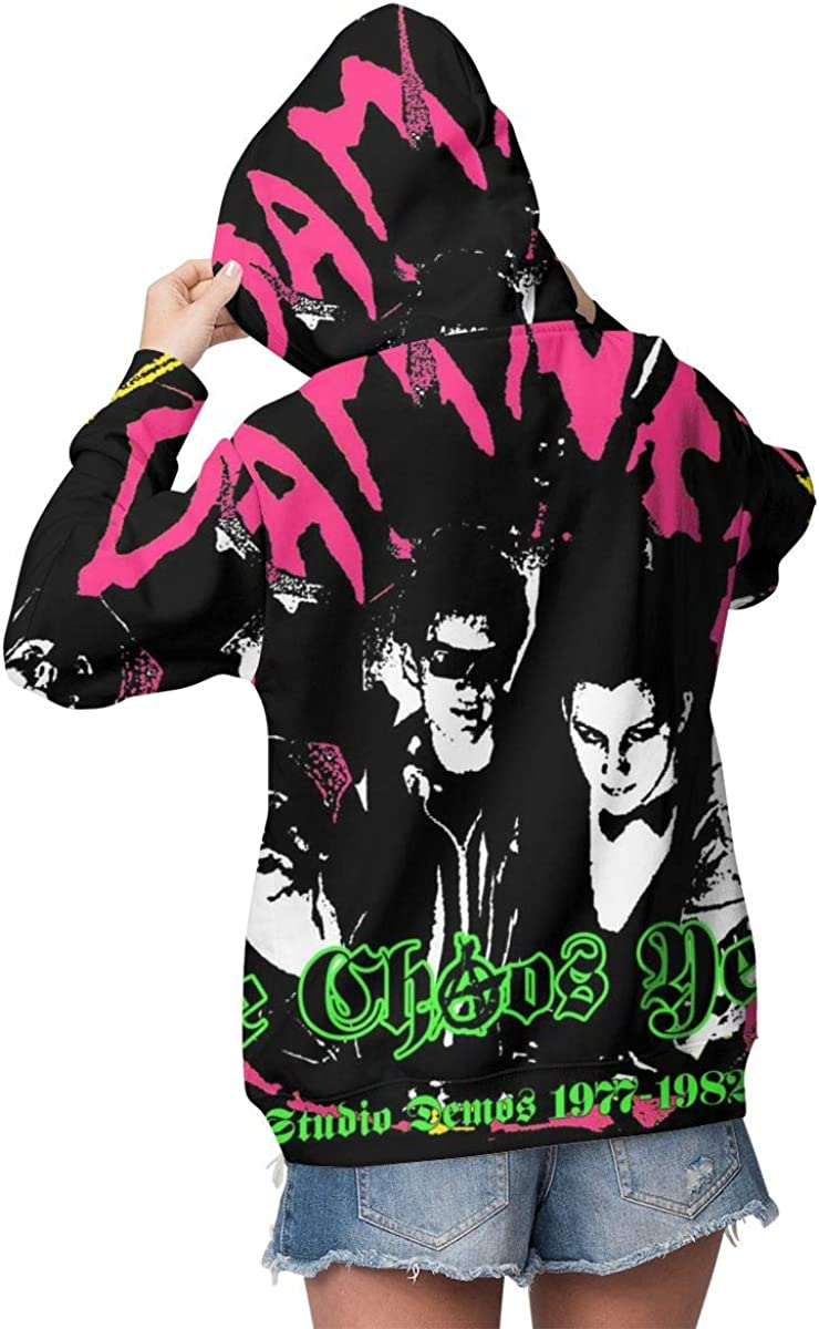 KennethDubreuil Womens The Damned Pocket Long Sleeve Cute Hoodie
