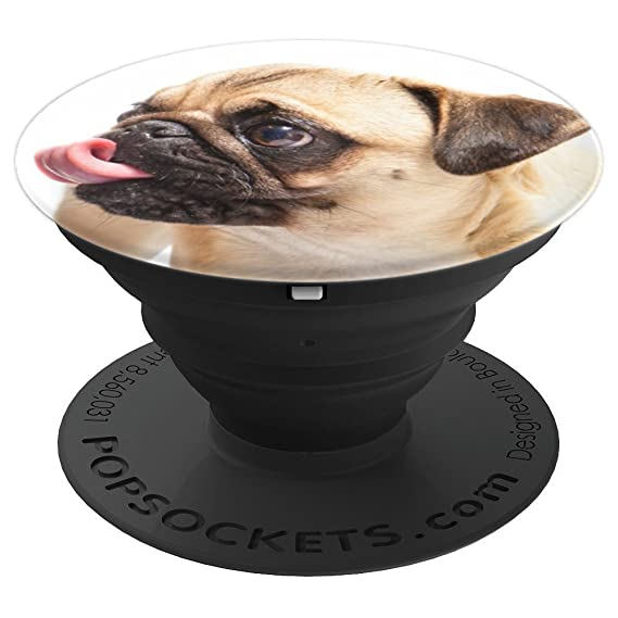 518f73cfbcd Image Unavailable. Image not available for. Color  Cute Pug Dog - PopSockets  Grip and Stand for Phones ...