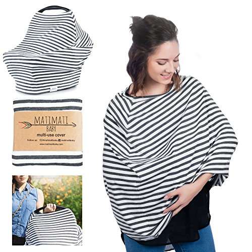 Buy Bargain 5-in-1 Multi Use Carseat Canopy & Nursing Cover Up + Baby Bandana Bib by Matimati, Stret...