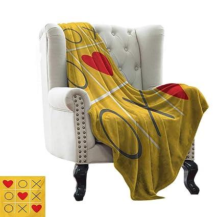 Amazon.com: BelleAckerman Toddler Blanket Love,Tic-Tac-Toe ...