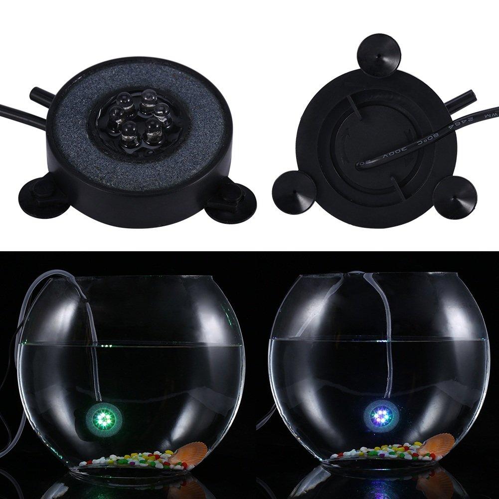 Luz de Burbuja de Aire de Acuario con Cambio de Color 6 Luces de LED Lámparas de Luz Decorativa de Tanque de Pescado: Amazon.es: Productos para mascotas