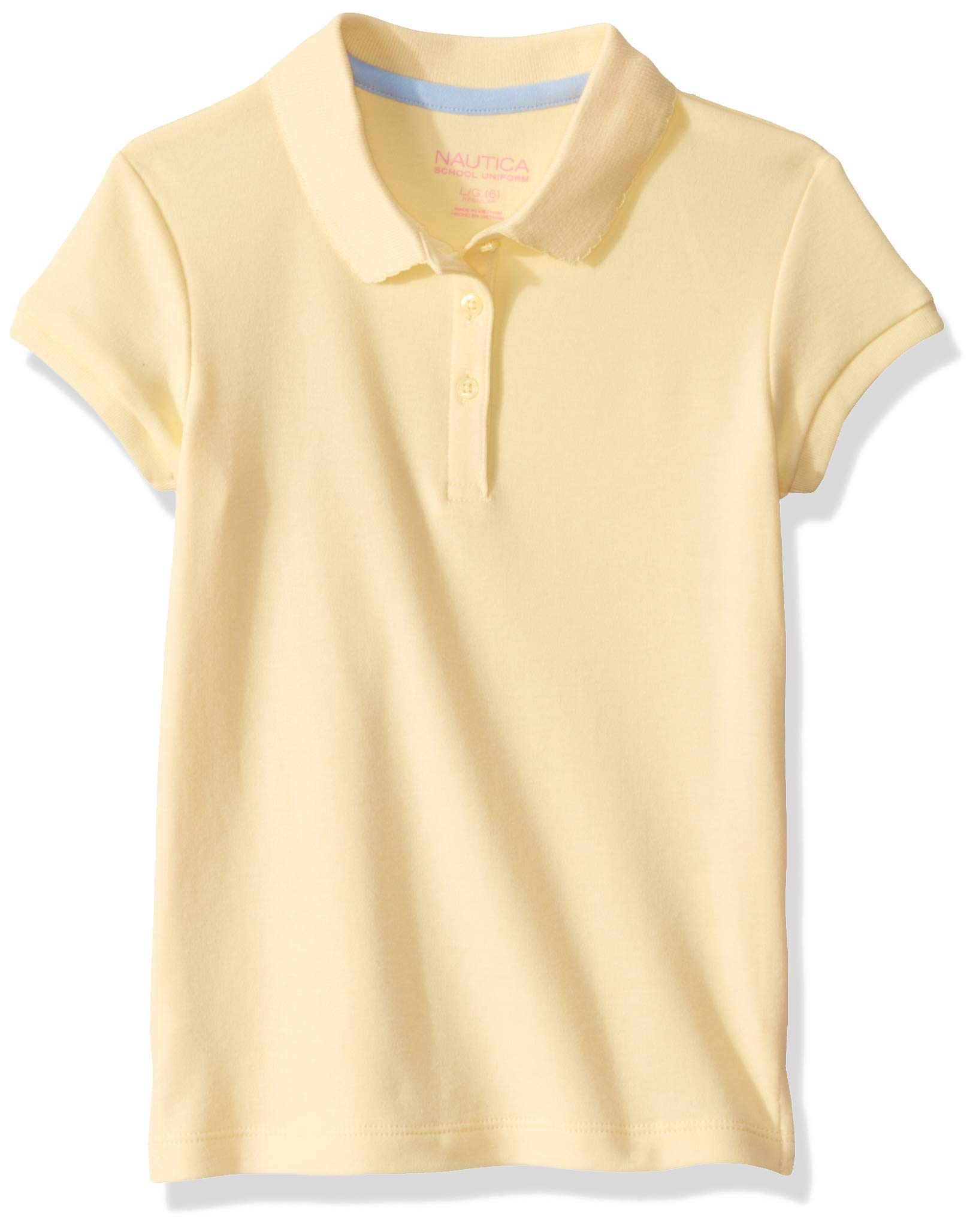 Nautica Girls' School Uniform Short Sleeve Pique Polo