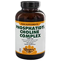 Country Life Phosphatidyl Choline Complex 1,200mg Cell Membrane Health Support Supplement...