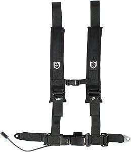 Pro Armor A16UH348BL Black Driver Side 4 Point Harness Bypass Clip Auto Style Latch RZR Maverick Seat Belt