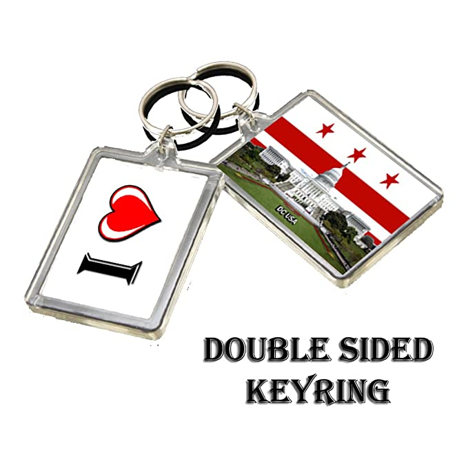 0414 WASHINGTON DC KEYRING I HEART USA LANDMARKS, USA ...