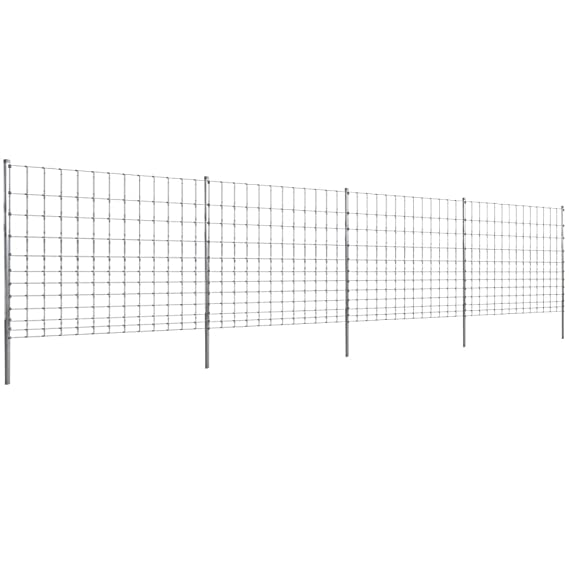 Step-In Fence 164' with Posts Galvanized Wire Fence Outdoor
