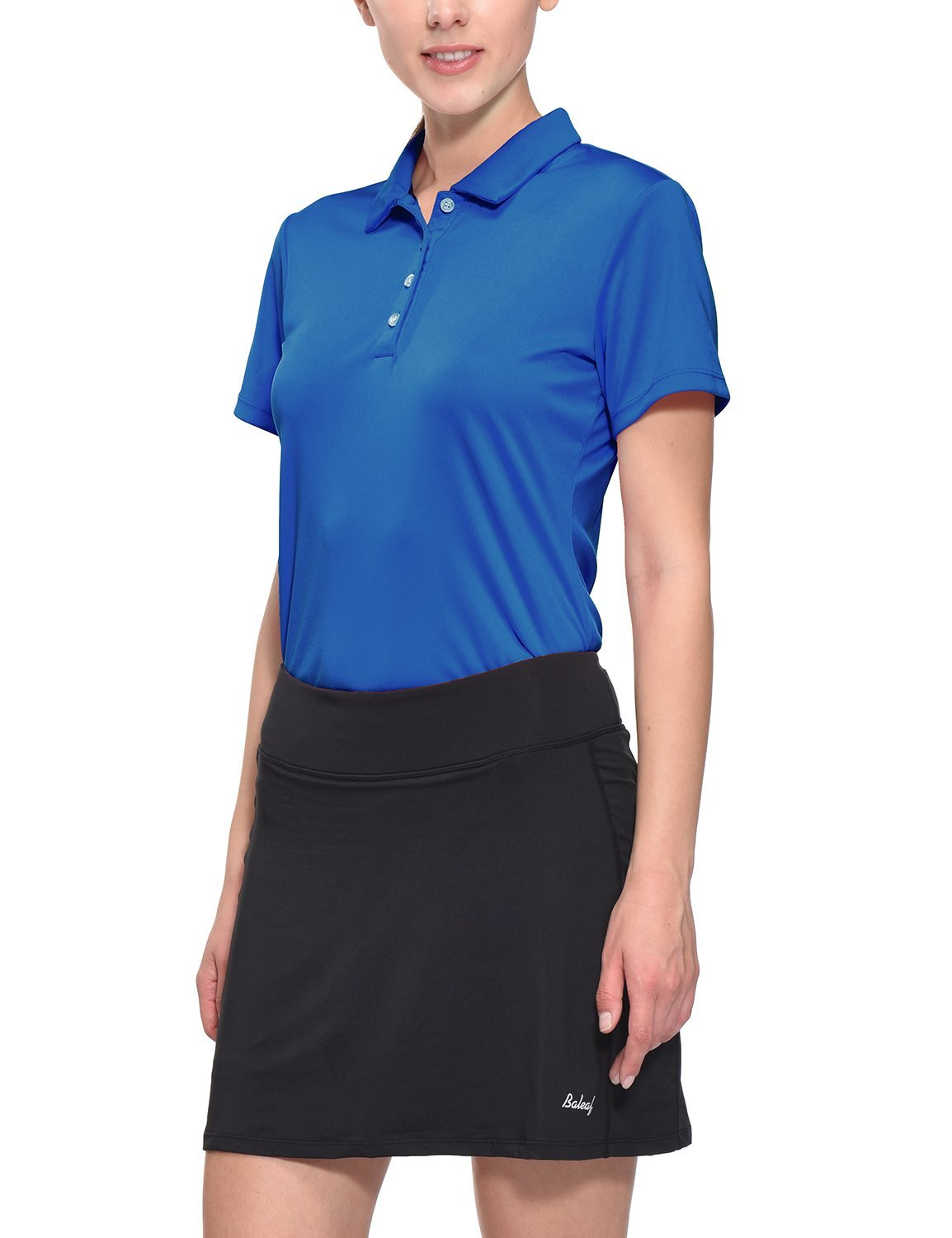 Baleaf Women's Golf Tennis Polo Shirts Quick Dry UPF 50+ Royal Blue Size L by Baleaf