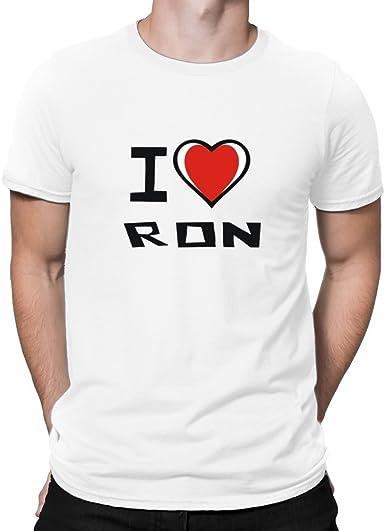 Teeburon I Love Ron Camiseta: Amazon.es: Ropa y accesorios
