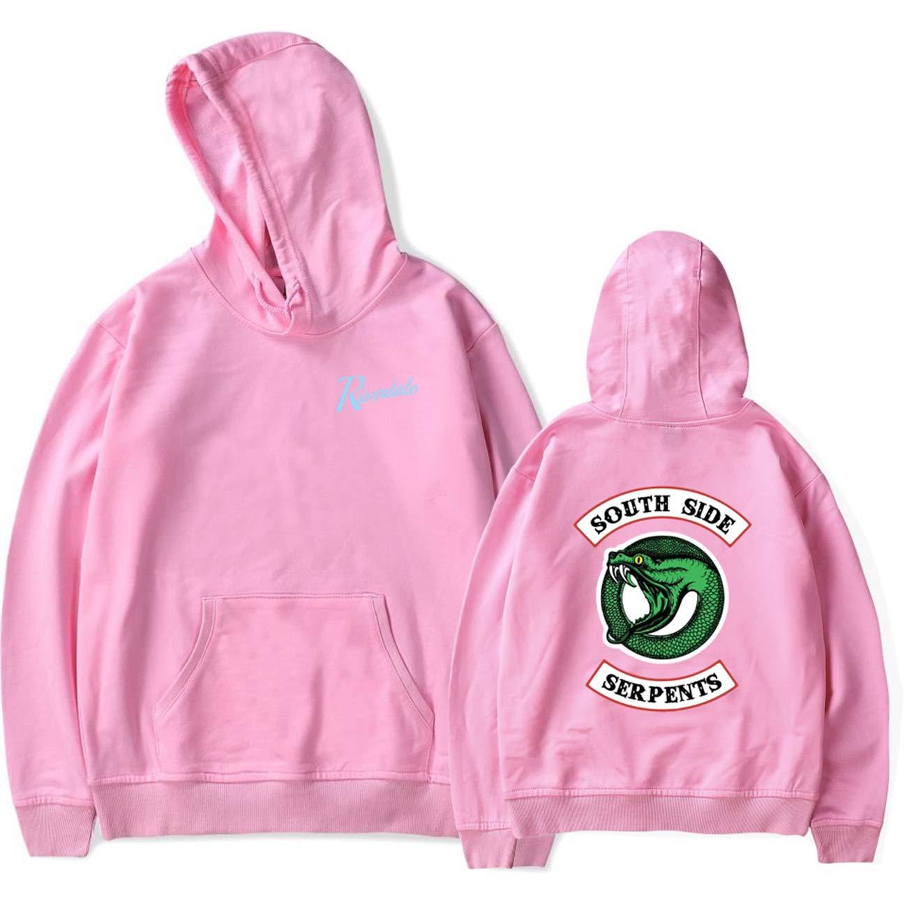 SERAPHY Unisex Hoodie Riverdale Pullover Southside Serpents Sweatshirt Pink L