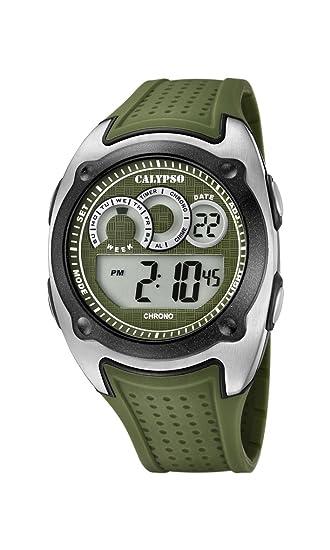 32a61c80446c Calypso Reloj Digital para Hombre de Cuarzo con Correa en Plástico K5722 2   Calypso  Amazon.es  Relojes