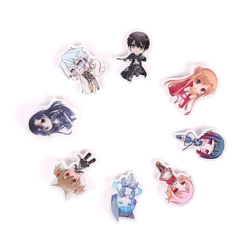 KroY PecoeD Anime Schwert Art Online Cartoon Brosche Pins Abzeichen Zubeh/ör F/ür Kleidung Rucksack Dekoration Beste Geschenk f/ür Anime Fans Geschenk Style 01