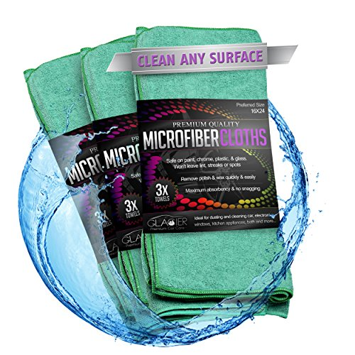 UPC 820103519168, Glacier Microfiber Cleaning Cloth Safely and Easily Cleans Any Surface Green 3 Large 24X16