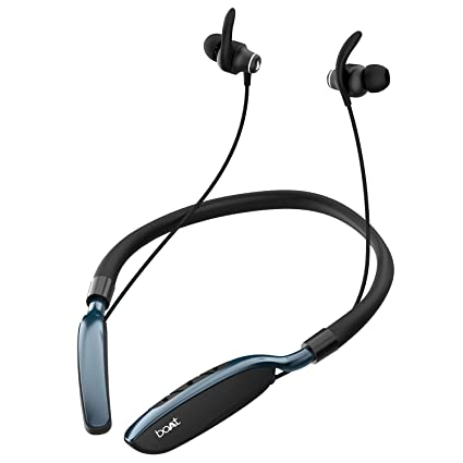 boAt Rockerz 385v2 Wireless Neckband with Up to 40H Nonstop Playback, BT V5.0, Qualcomm CVC & aptX, Type C Interface, Magnetic Earbuds, IPX6 Water Resistance, ASAP Fast Charge(Active Black)