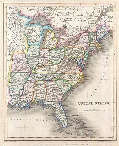 Missouri Jersey Material - Artokoloro Gilbert Map of The United States (1843) - 11
