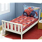 Amazing Spiderman Toddler Bed Sheets - 2pc (Pillow Case and Fitted Sheet Set) Gotcha theme by Marvel