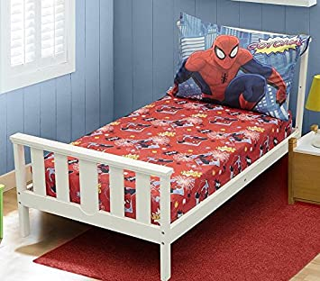 Amazing Spiderman Toddler Bed Sheets   2pc (Pillow Case And Fitted Sheet  Set) Gotcha