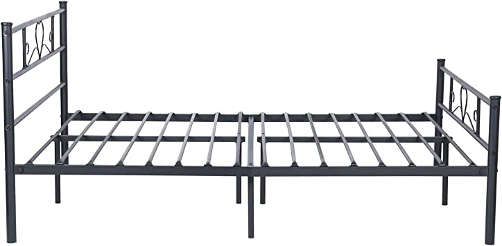 Symy Full Size Bed Frame Metal Mattress Foundation Platform Beds Full Heart Shaped Bed Frame Base With Strong Metal Slats For Adult Children Easy Assembly No Box Spring Needed Black Amazon Ca Home Kitchen