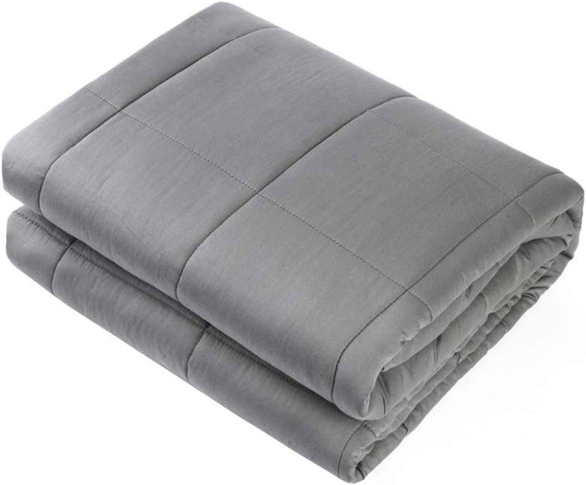 "Waowoo Adult Weighted Blanket Queen Size(15lbs 60""x80"") Heavy Blanket with Premium Glass Beads, (Dark Grey): Home & Kitchen"