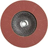 PFERD Polifan SG Abrasive Flap Disc, Type 27, Threaded Hole, Phenolic Resin Backing, Aluminum Oxide, 7'' Dia., 120 Grit (Pack of 1)