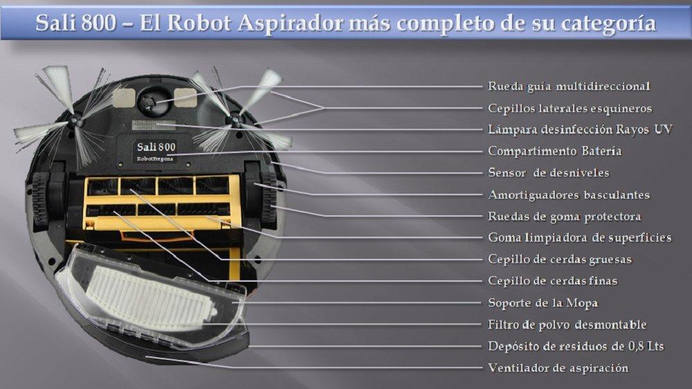 Robot Aspirador completo con accesorios. El mejor del mercado, auto ...