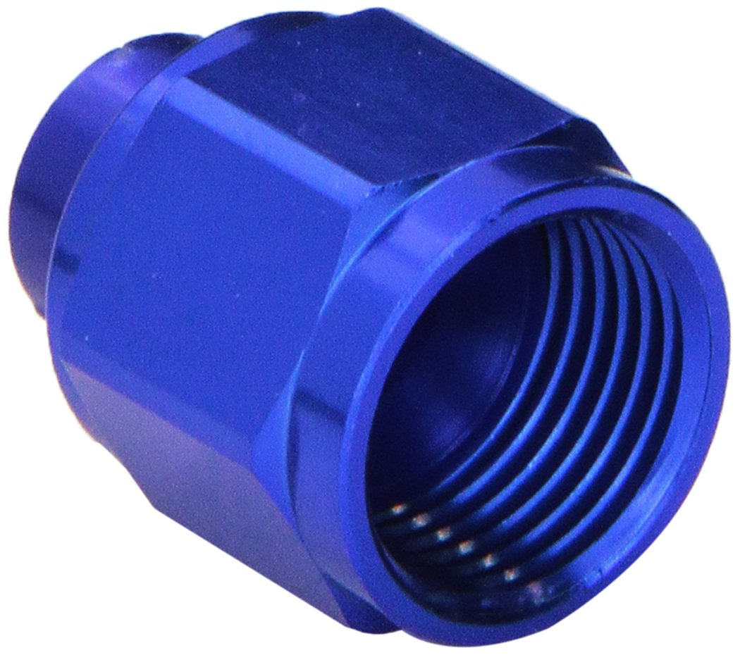 Russell 661970 Blue Anodized Aluminum -8AN Flare Cap Fitting
