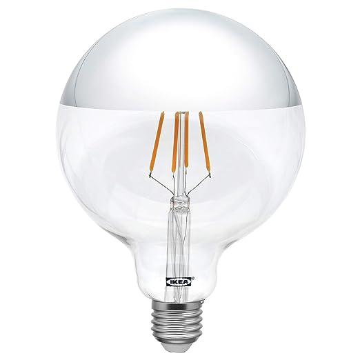 IKEA SILLBO Bombilla de filamento LED de 370 lúmenes, 125 mm, E27 con parte