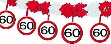Folat B.V- Folat Guirnalda de señales de tráfico del 60 cumpleaños con perchas, Multicolor, 4m lang (5235)