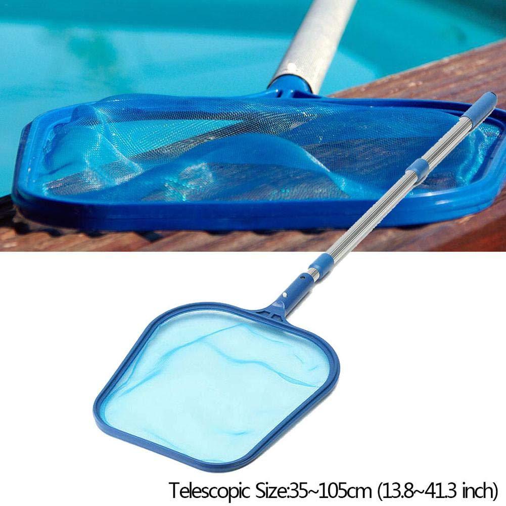 Leaf Skimmer Net,Swimming Pool Net,Leaf Rake Net,/Leaf/Debris/Skimmer/Net/4 Foot Telescopic Pole Swimming Pool Cleaning Tools