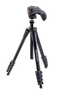 Manfrotto 三脚 COMPACT Action フォト・ムービーキット アルミ 5段 ブラック