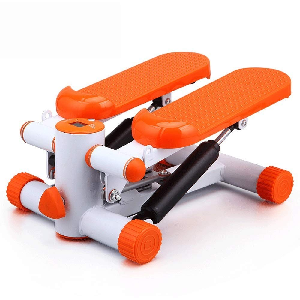 Steppers,Aerobic Fitness Exercise Machine,Mini Stepper Adjustable Air Stepper Twist Stepper with Hydraulic Resistance Fitness Exercise Machine (Color : Orange, Size : Casual Size)