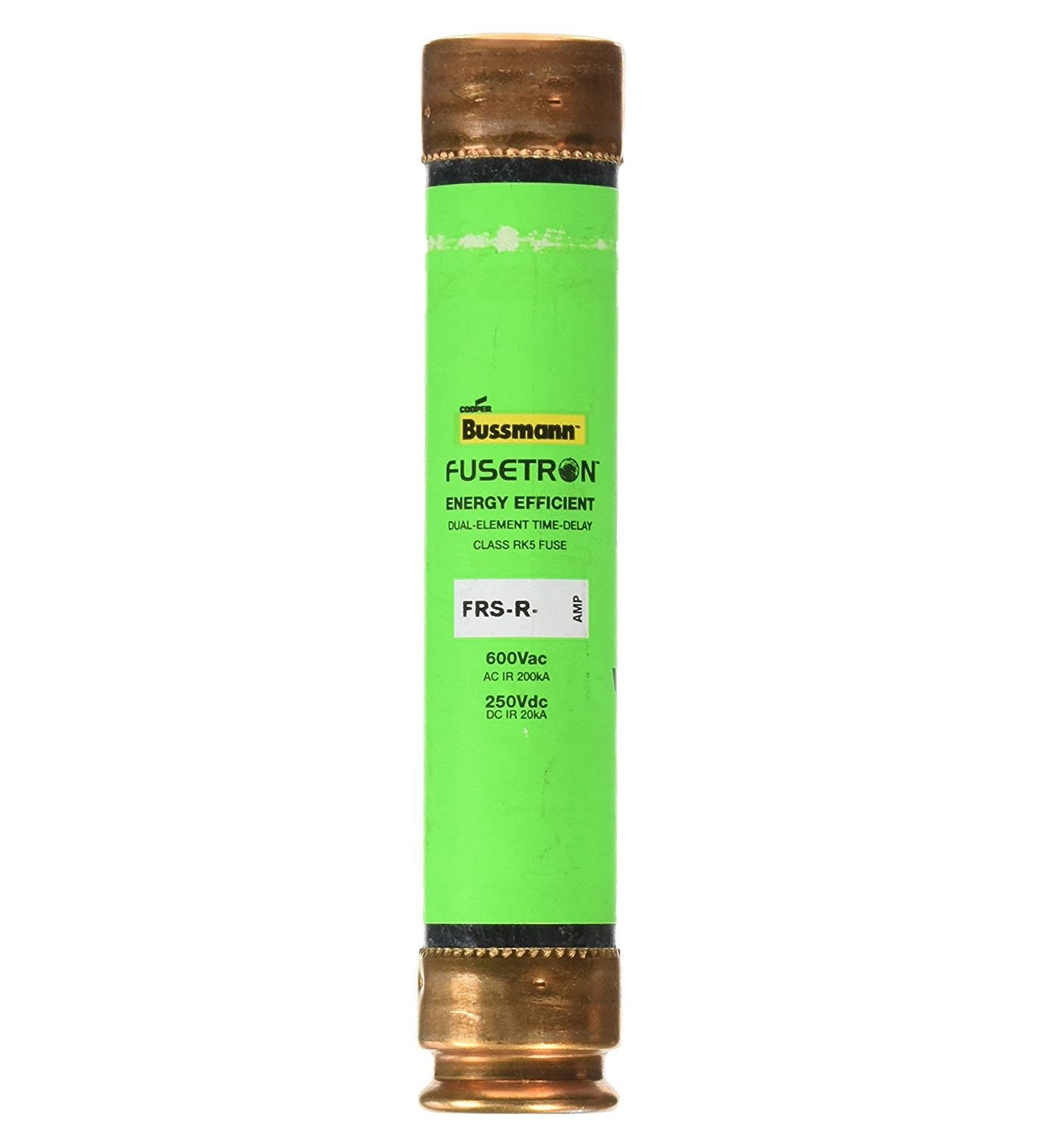 Bussmann FRS-R-60 Fusetron Dual Element Time-Delay Fuse 600V 60 Amp