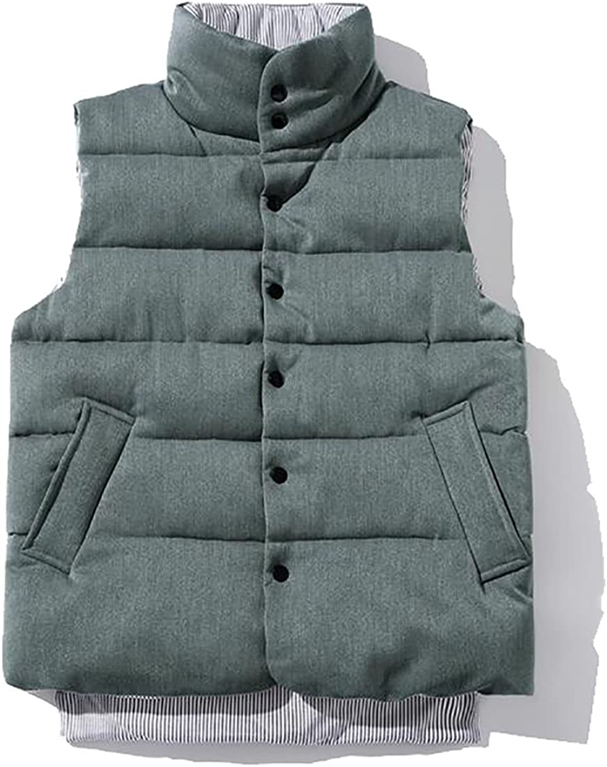 xtsrkbg Men Winter Warm Packable Down Quilted Vest Outdoor Puffer Vest