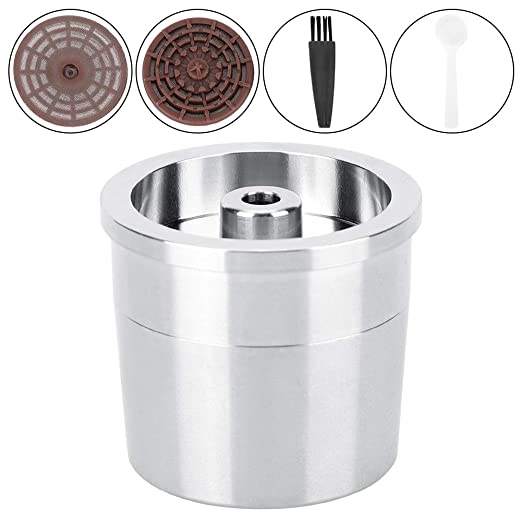 Nitrip - Filtro de café de acero inoxidable, cafetera llena ...