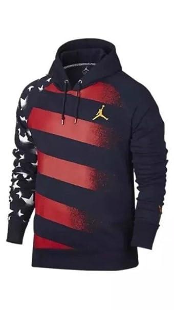 Nike AJ 7 Stars and Stripes Hoodie Sweatshirt Weiß M