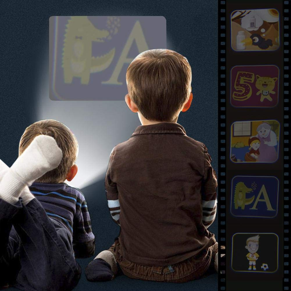 Kinder Projektor Taschenlampe Projektionslampe mit 5 Themen 96 Folien Unterwasserwelt f/ür Kleinkind Junge M/ädchen Tierwelt