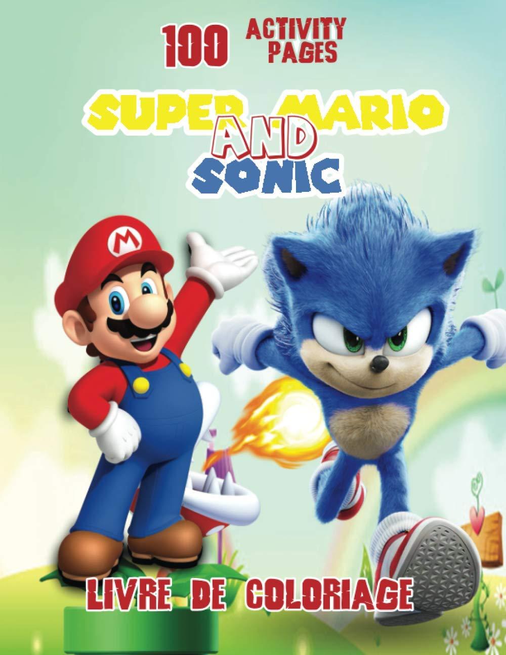 Super Mario And Sonic livre de coloriage 32 Activity pages fr ...