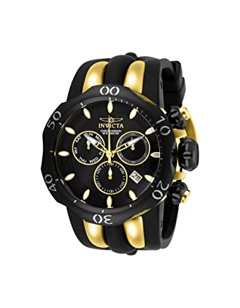 06d3ea0f6 Amazon.com: Invicta Men's 26661 Venom Quartz Chronograph Black, Gold Dial  Watch: Invicta: Watches