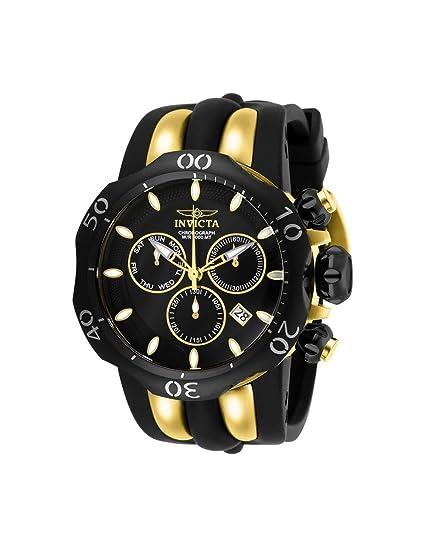Invicta Venom Reloj de hombre cuarzo suizo correa de silicona dial negro 26661: Amazon.es: Relojes