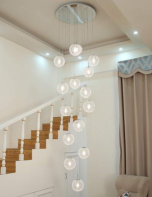 Ceiling lighting Multi Luces Escalera Araña Colgante Largo Luz ...