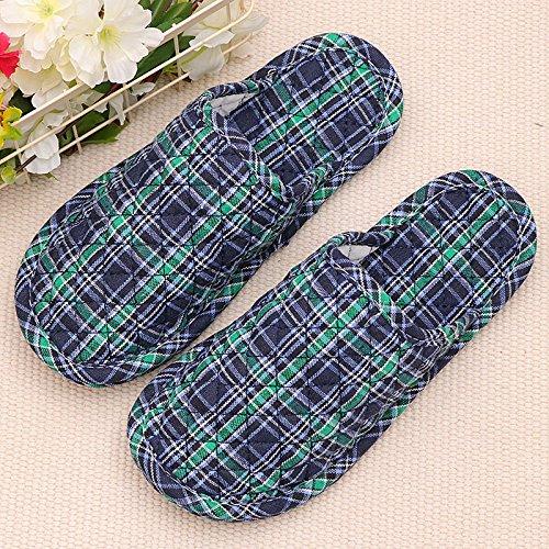 Fankou l arte del cotone pantofole inverno piscina home soggiorno coppie maschio di pavimenti morbidi pavimenti in legno macchina silenziosa lavare, maschio maschio femmina 36-38 40-42, nella piccola