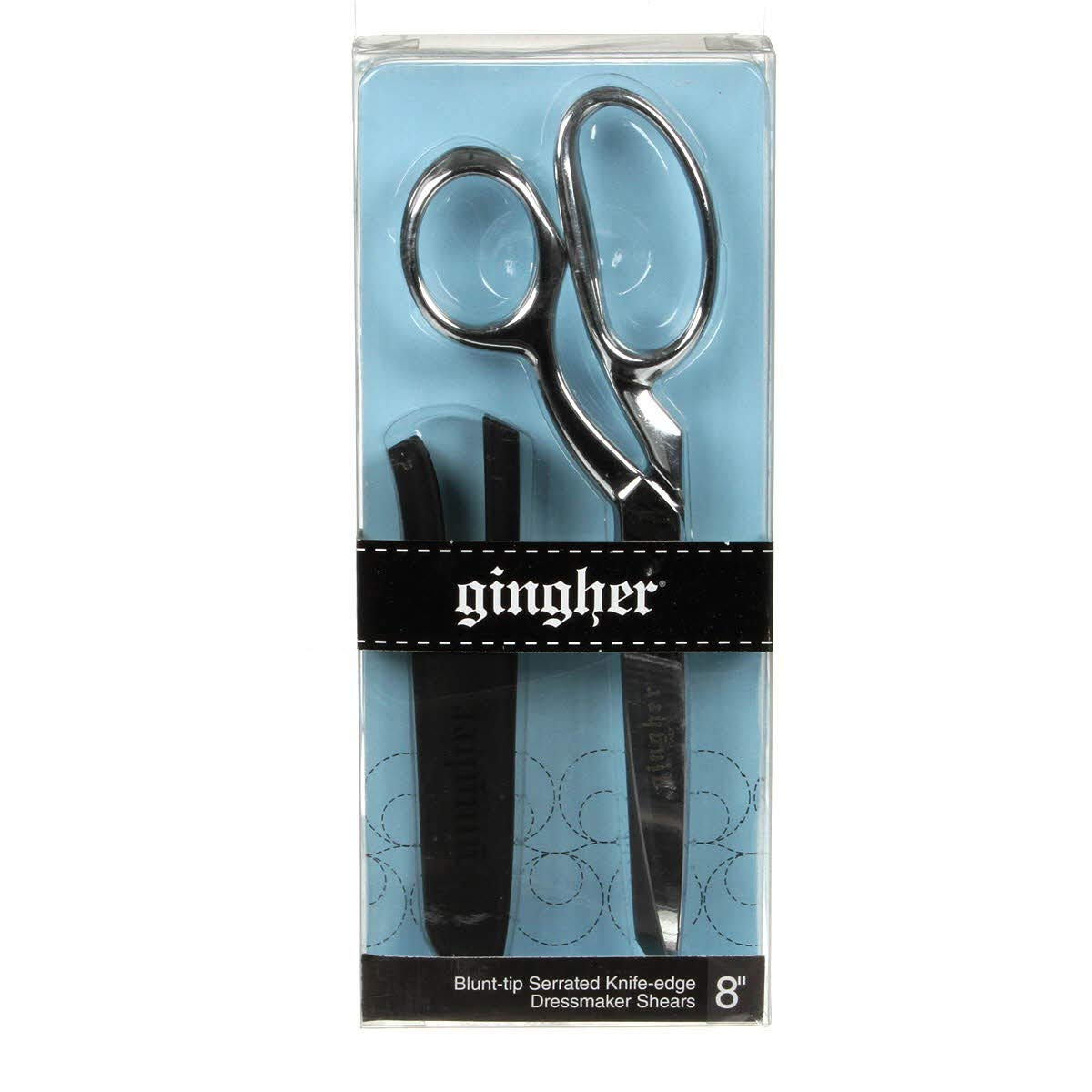 Gingher 8in Serrated/Knife Edge Dressmakers Shears Blunt Tip by Gingher Inc