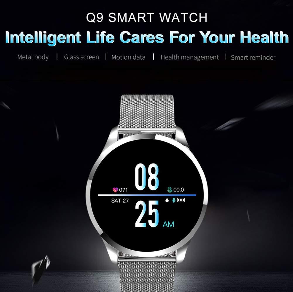 Reloj inteligente Nuevo Q9, para hombres, mujeres Reloj ...