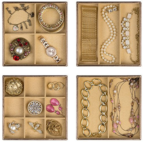 Stackable Jewelry Organizer Trays MultiPurpose Use As Showcase