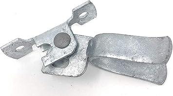 "Locking Gate Hardware 1 5//8/"" x 3/"" Chain Link Heavy Duty Gate Latch Set"