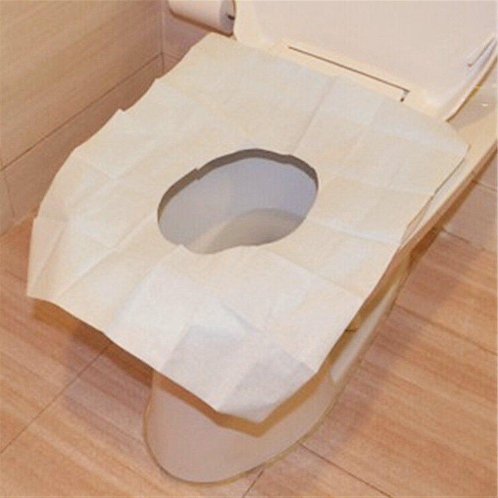 flushable paper toilet seat covers 10pcs bag disposable paper