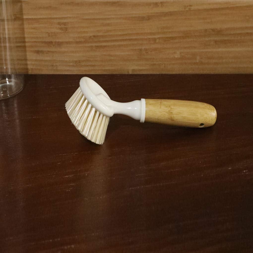 Poign/ée en Bois Brosse /à r/écurer Batterie de Cuisine Bols Nettoyage Scrubber Accessoires de Cuisine Vaisselle Lave-Outil