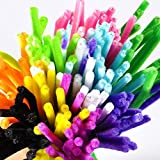 Caydo 200 Pcs Pipe Cleaners Chenille Stem 6 mm x 12 Inch, Assorted Colors