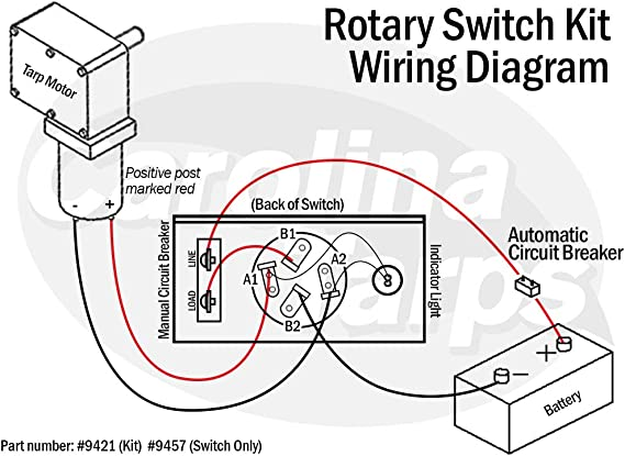 [WLLP_2054]   Carolina Tarps Electric Tarp Switch Kit for Dump Truck Tarp Systems Rotary  Style 50 Amp with Circuit Breaker, Winch Accessories - Amazon Canada | Reverable Tarp Switch Wiring Diagram |  | Amazon.ca