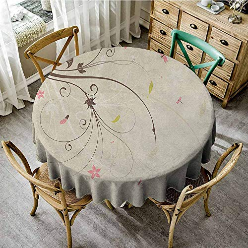 - Rank-T Round Tablecloth Vinyl Fitted 55