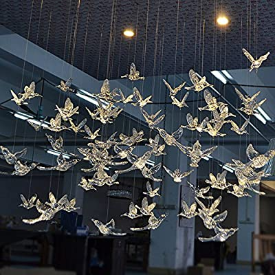 Creative DIY Flying Bird Decorative Hanging Ornaments For Ceiling Light Kindergarten Shopping Mall Home Window Decoration